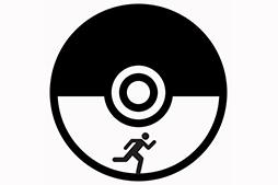 Black and White Pokeball Pokemon Go