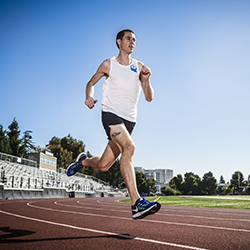 Runner at Track and Field